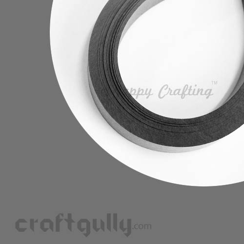 Quilling Strips 3mm - Ash Grey - 17Inch - 100 Strips