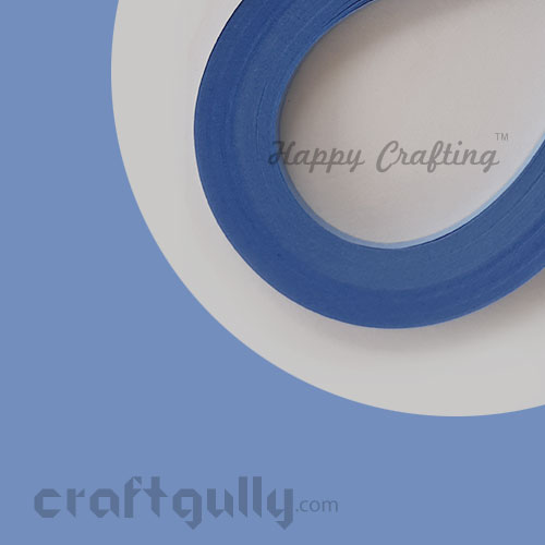 Quilling Strips 3mm - Sailor Blue - 17Inch - 100 Strips