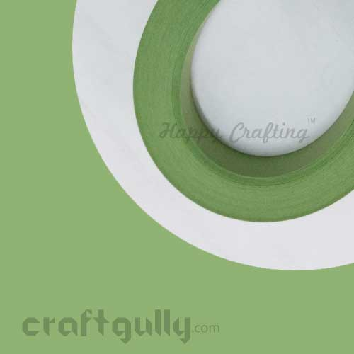 Quilling Paper Strips 3mm - Moss Green - 17Inch - 100 Strips