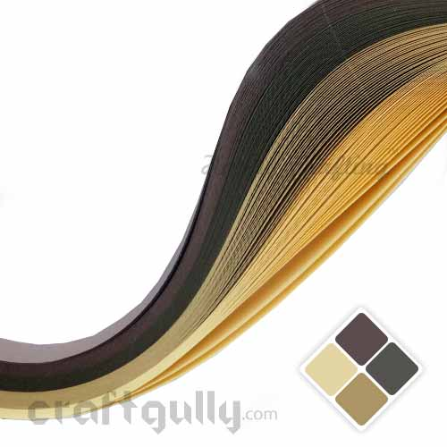 Quilling Paper Strips 3mm - Theme Pack - Desert - 17Inch - 100 Strips