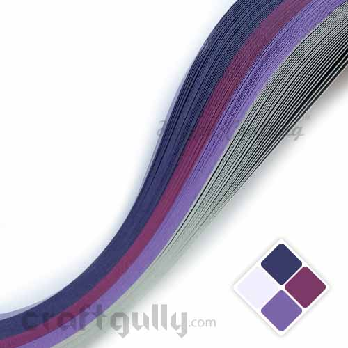 Quilling Paper Strips 3mm - Theme Pack - Twilight - 17Inch - 100 Strips