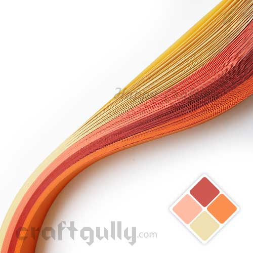 Quilling Paper Strips 5mm - Theme - Candy - 17Inch - 100 Strips