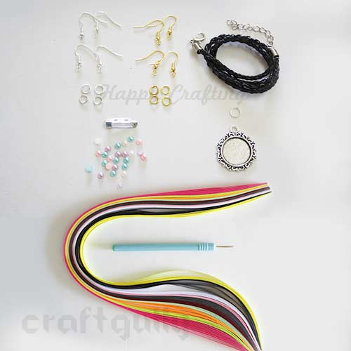 CraftGully Quilling Jewellery Kit