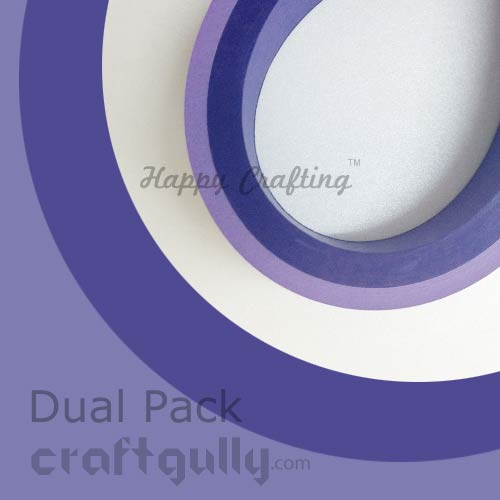 Quilling Paper Strips 3mm - Dual Pack - Purple - 17Inch - 100 Strips
