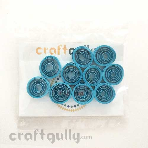 Quilled Shapes 5mm Loose Coil - Sky Blue - Pack of 10