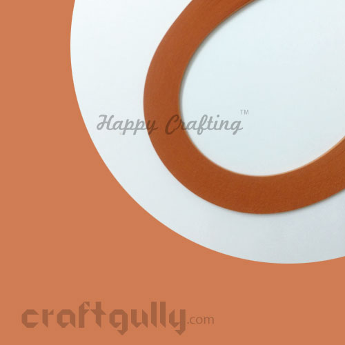 Quilling Paper Strips 3mm - Cinnamon - 17Inch - 100 Strips