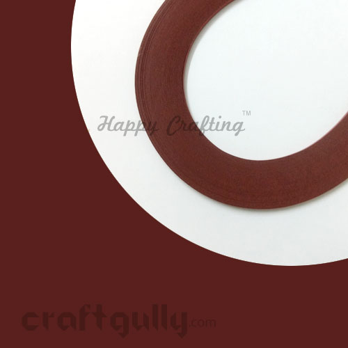 Quilling Paper Strips 3mm - Dark Caramel - 17Inch - 100 Strips