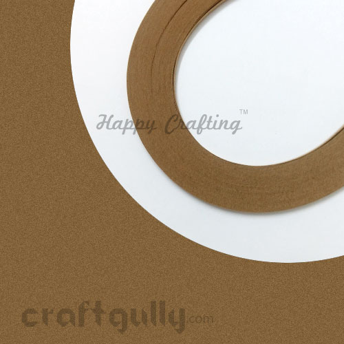 Quilling Paper Strips 3mm - Kraft - 17Inch - 100 Strips