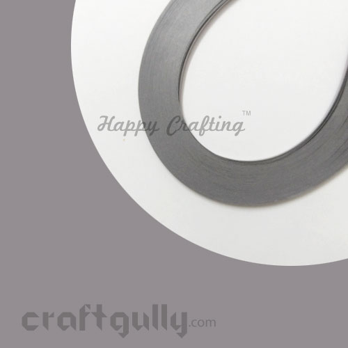 Quilling Paper Strips 5mm - Smoke Grey - 17Inch - 100 Strips