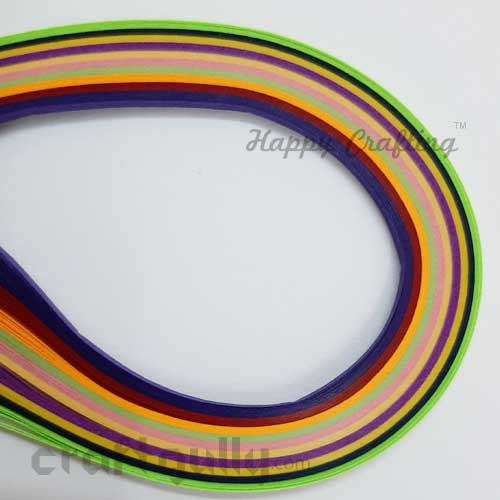 Quilling Paper Strips 2mm - Assorted - 11Inch - 100 Strips