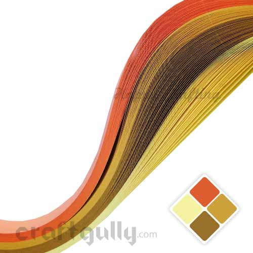 Quilling Paper Strips 2mm - Theme - Summer - 11inch - 100 Strips