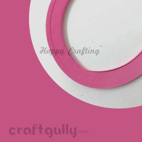 Quilling Paper Strips 2mm - Bubble Gum Pink - 17 inches - 100 Strips