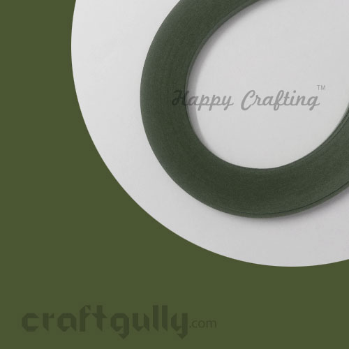 Quilling Paper Strips 3mm - Leaf Green #1 - 17 inches - 100 Strips