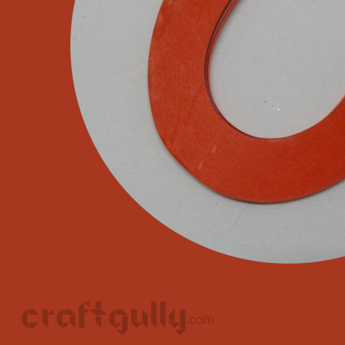 Quilling Paper Strips 2mm - Deep Orange - 11inch - 100 Strips