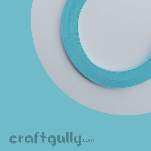 Quilling Paper Strips 2mm - Baby Blue - 11inch - 100 Strips