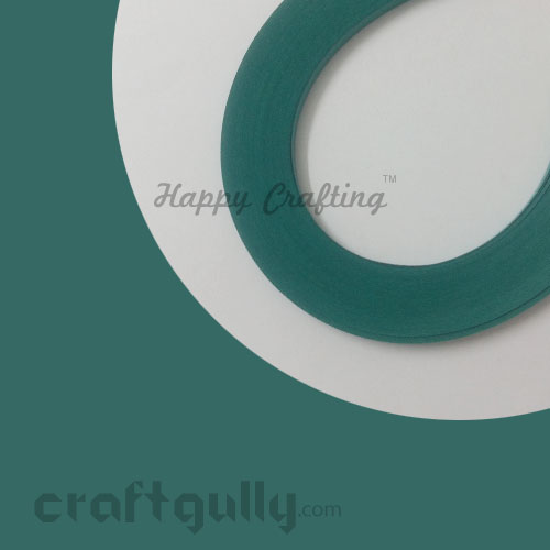 Quilling Paper Strips 3mm - Teal #2 - 17Inch - 100 Strips