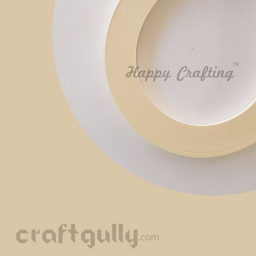 Quilling Paper Strips 5mm - Ivory - 11inch - 100 Strips