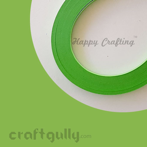 Quilling Paper Strips 2mm - Parrot Green #2 - 11inch - 100 Strips