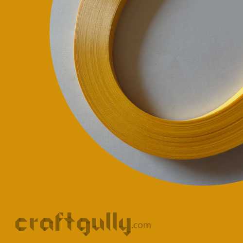 Quilling Strips 2mm - Golden Yellow - 17Inch - 100 Strips