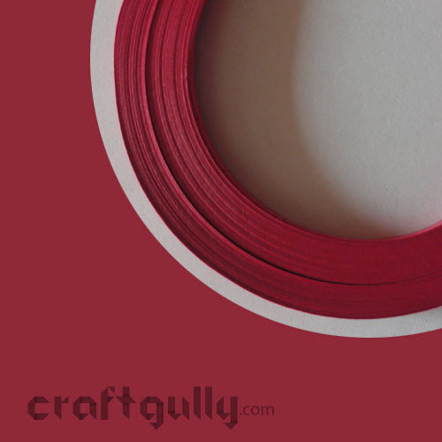Quilling Paper Strips 3mm - Red - 17Inch - 100 Strips