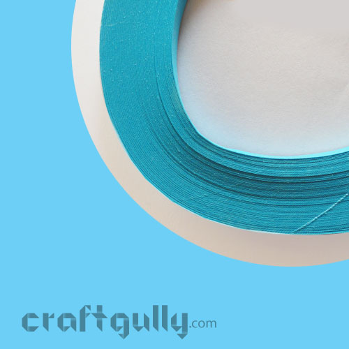 Quilling Strips 2mm - Sky Blue - 17Inch - 100 Strips