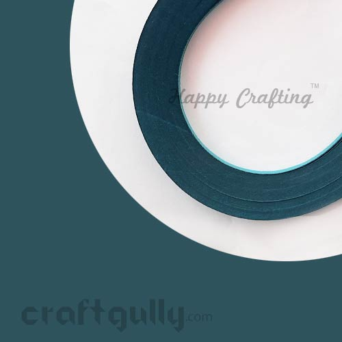 Quilling Strips 3mm - Dark Teal - 17inches - 100 Strips