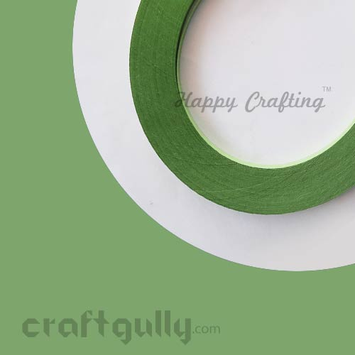 Quilling Strips 3mm - Pear Green - 17inches - 100 Strips