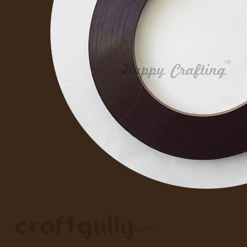 Quilling Strips 3mm - Dark Brown - 17inches - 100 Strips