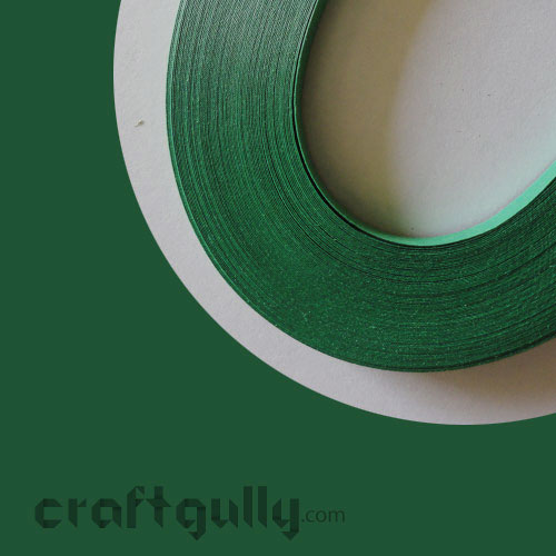 Quilling Strips 3mm - Bottle Green #2 - 17inches - 100 Strips