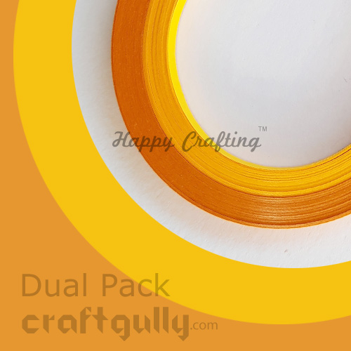 Quilling Strips 2mm - Dual Yellow - 17inch - 100 Strips
