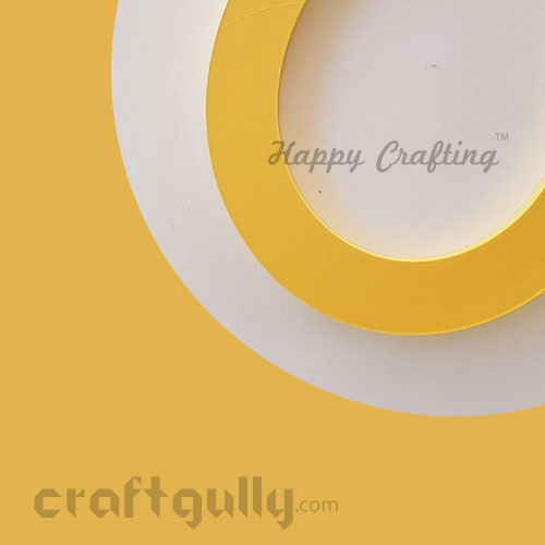 Quilling Strips 2mm - Daffodil Yellow - 17Inch - 100 Strips