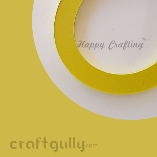 Quilling Strips 7mm - Marigold Yellow - 11inch - 100 Strips