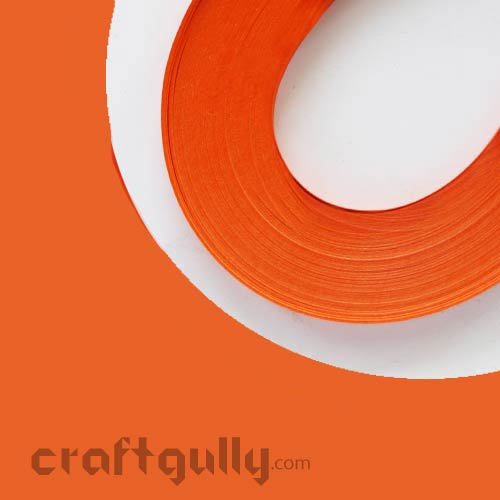 Quilling Strips of 10mm - Orange - 11Inch - 100 Strips