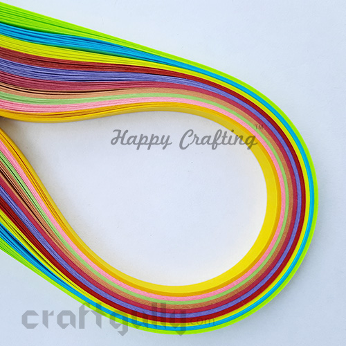 Quilling Strips 7mm - Assorted #8 - 11 inches - 100 Strips