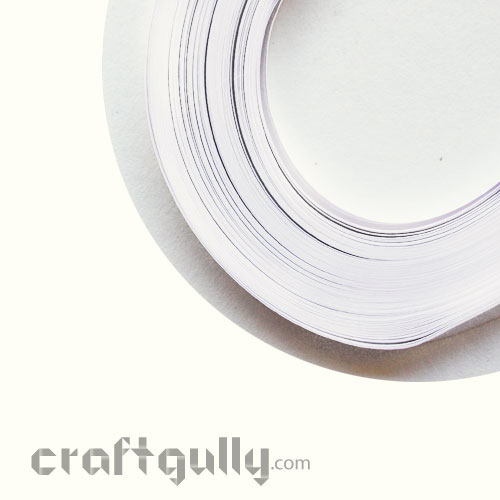 Quilling Strips 2mm - White - 17inch - 100 Strips