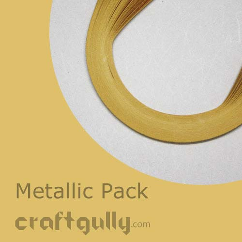 Quilling Paper Strips 3mm - Metallic Gold - 17Inch - 100 Strips
