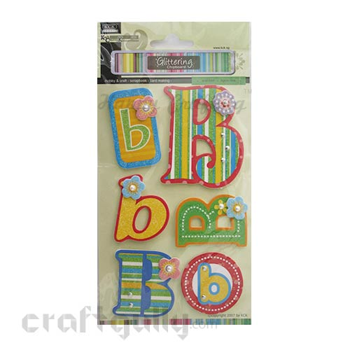 Paper 3D Stickers - Alphabet 'B'