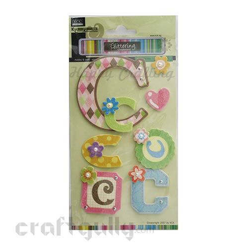 Paper 3D Stickers - Alphabet 'C'
