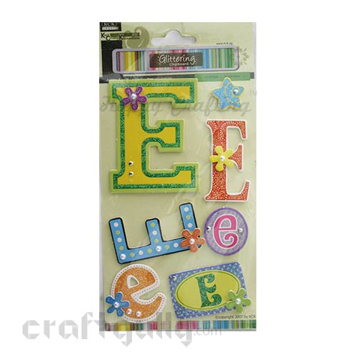 Paper 3D Stickers - Alphabet 'E'