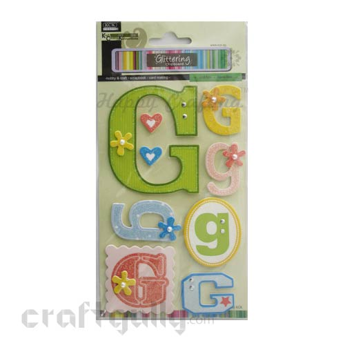 Paper 3D Stickers - Alphabet 'G'