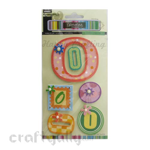 Paper 3D Stickers - Alphabet 'O'