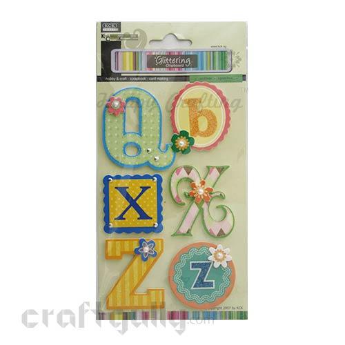 Paper 3D Stickers - Alphabets 'Q,X,Z'