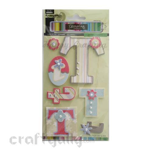 Paper 3D Stickers - Alphabet 'T'
