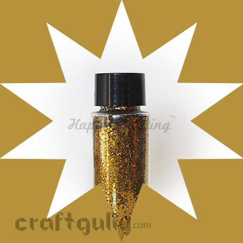 Glitter Large - Dark Gold - 30ml