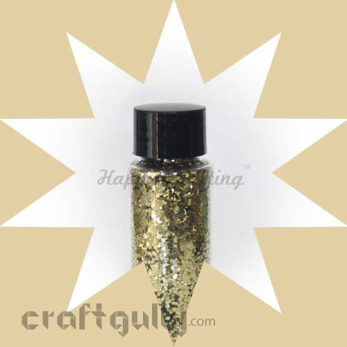Glitter Large - Light Gold - 30ml