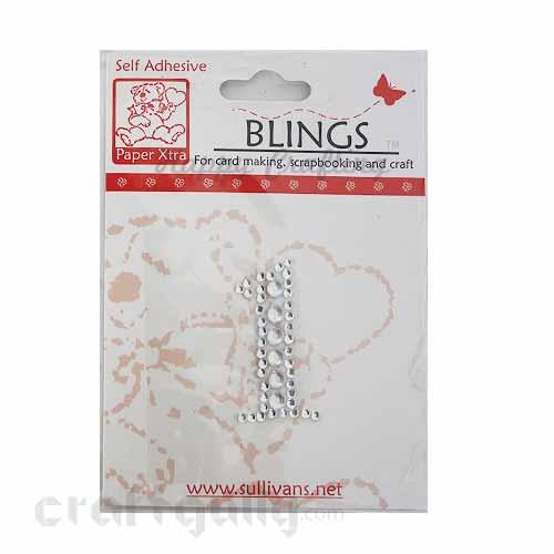 Rhinestone Stick-ons - Number Stickers - 1