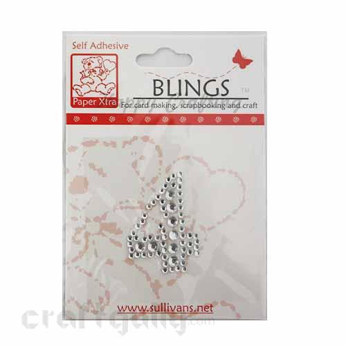 Rhinestone Stick-ons - Number Stickers - 4
