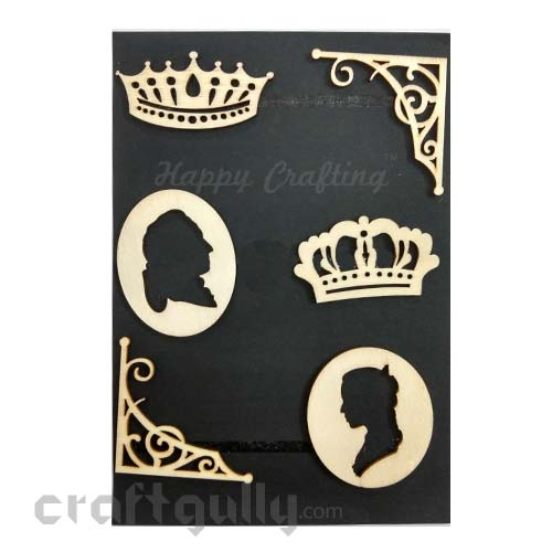 Laser Cut - Wooden Elements #5 - Crown