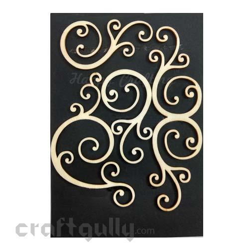 Laser Cut - Wooden Elements #7 - Swirls