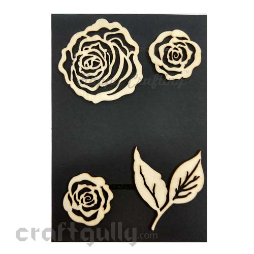 Laser Cut - Wooden Elements #10 - Rose
